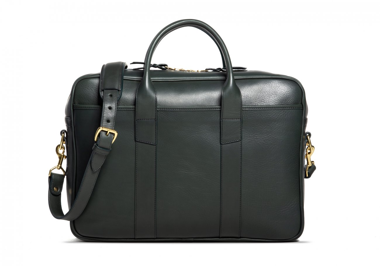 Commuter Briefcase Leather Green2