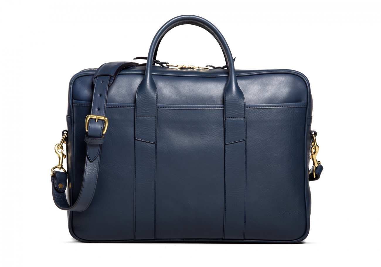 Commuter Briefcase Leather Navy4