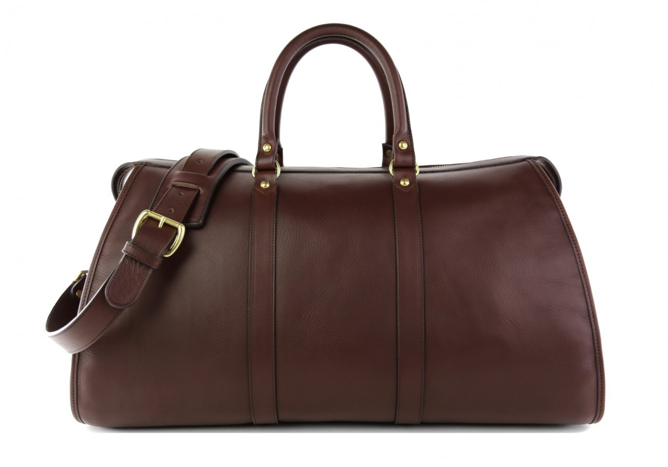Dark Brown Leather Duffle Bag Hampton Frank Clegg 1