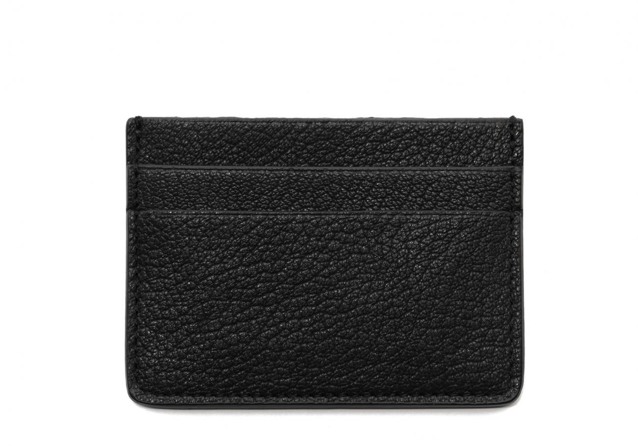 Double Card Wallet Black Goatskin1
