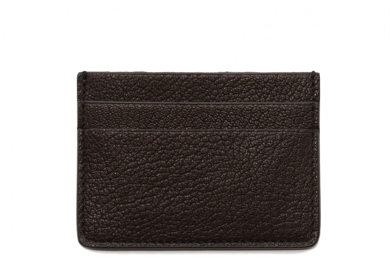 Double Card Wallet Chocolate Goatskin1 1