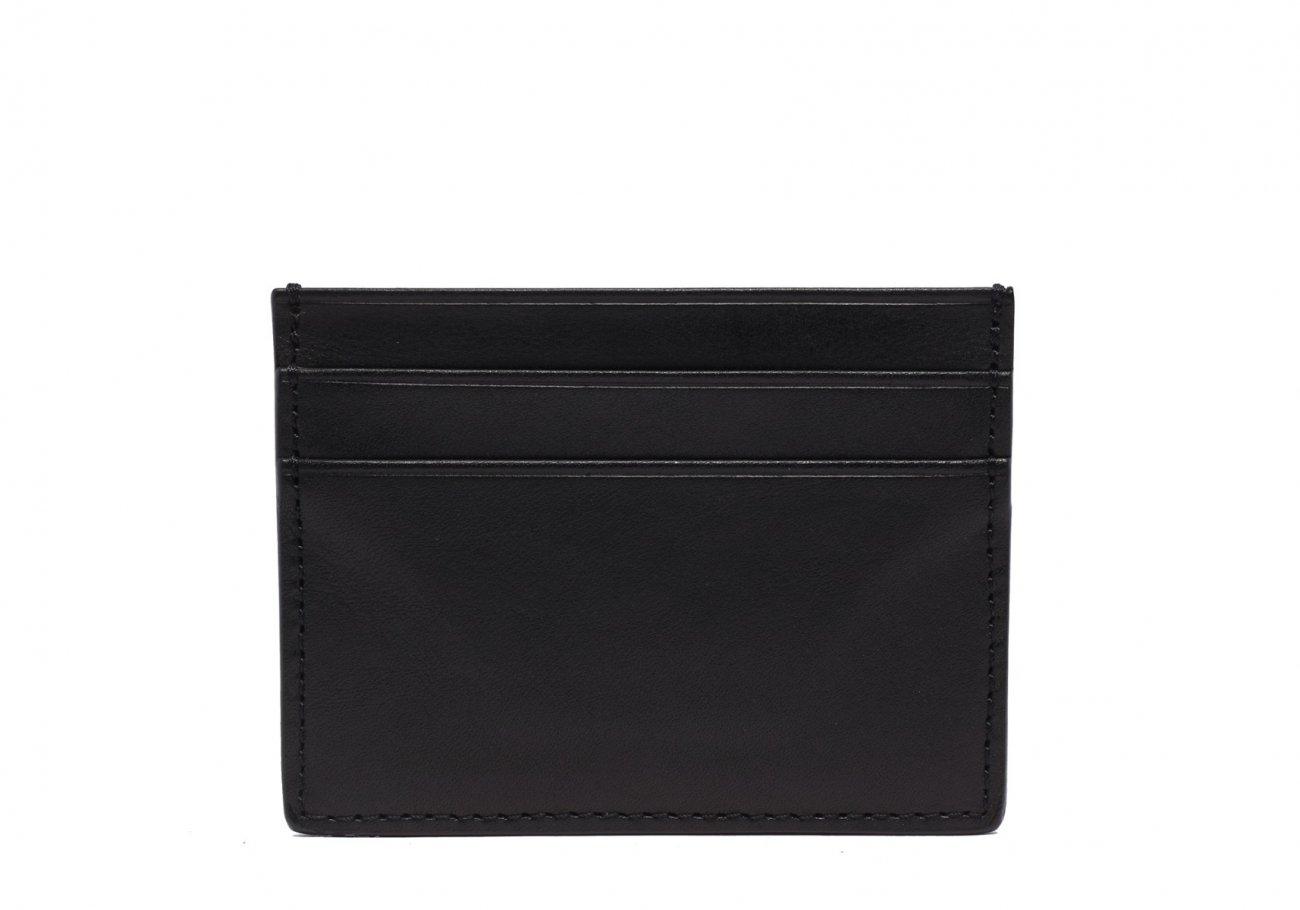 Double Mini Card Wallet Black 1