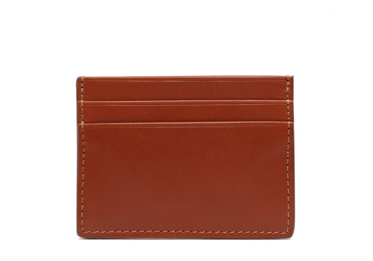 Double Mini Card Wallet Cognac 1