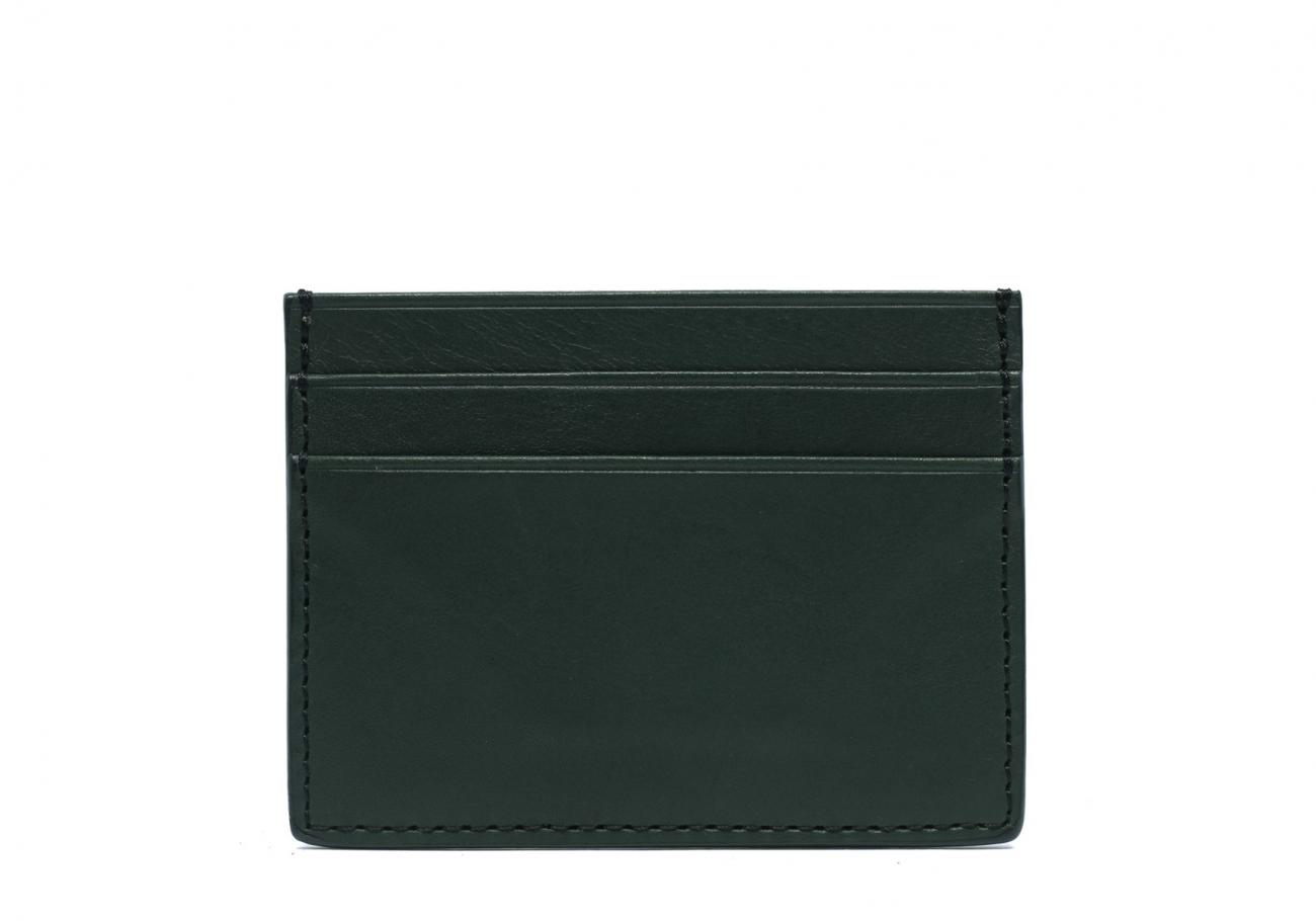 Double Mini Card Wallet Green 1