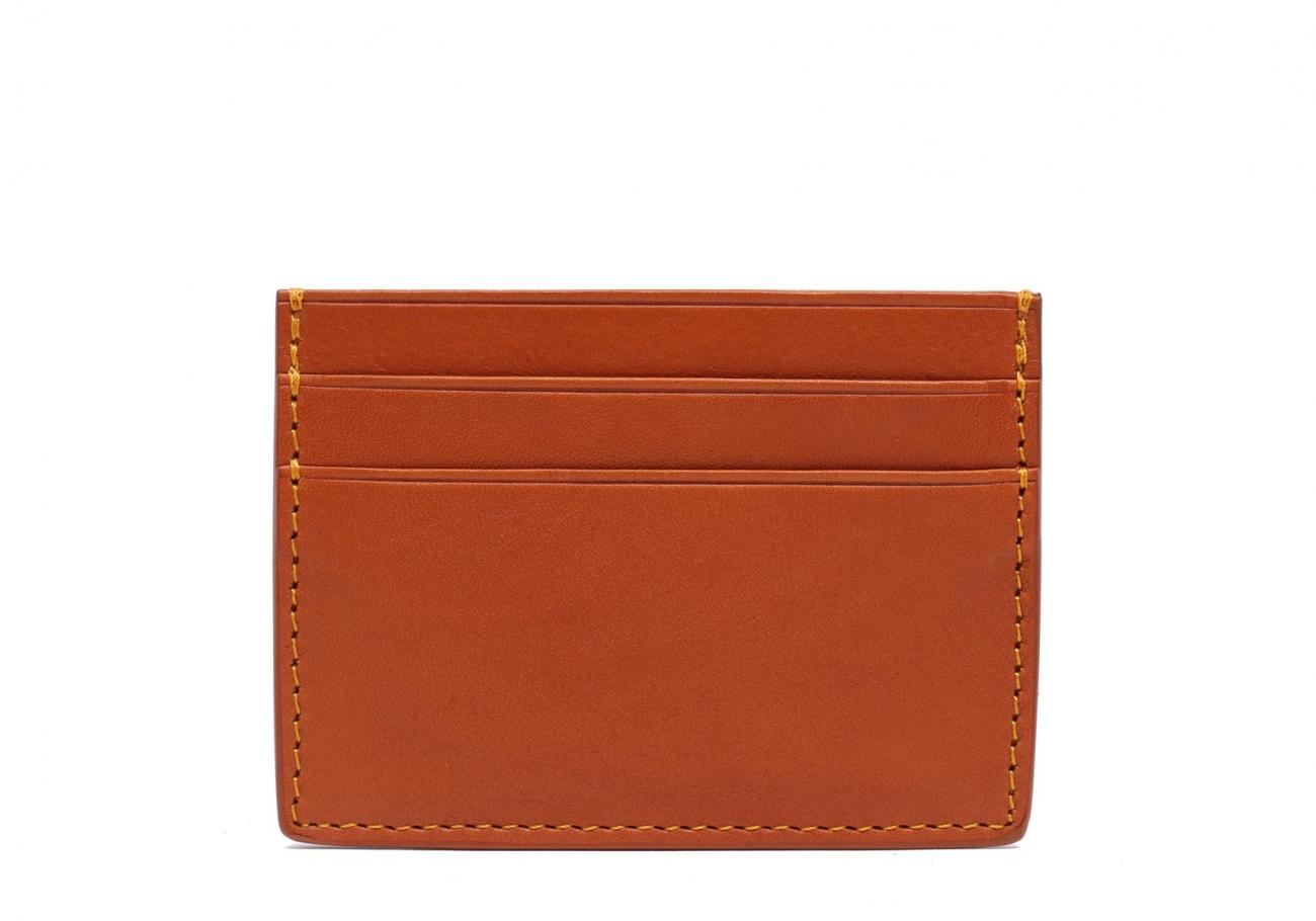 Double Mini Card Wallet Tan 1