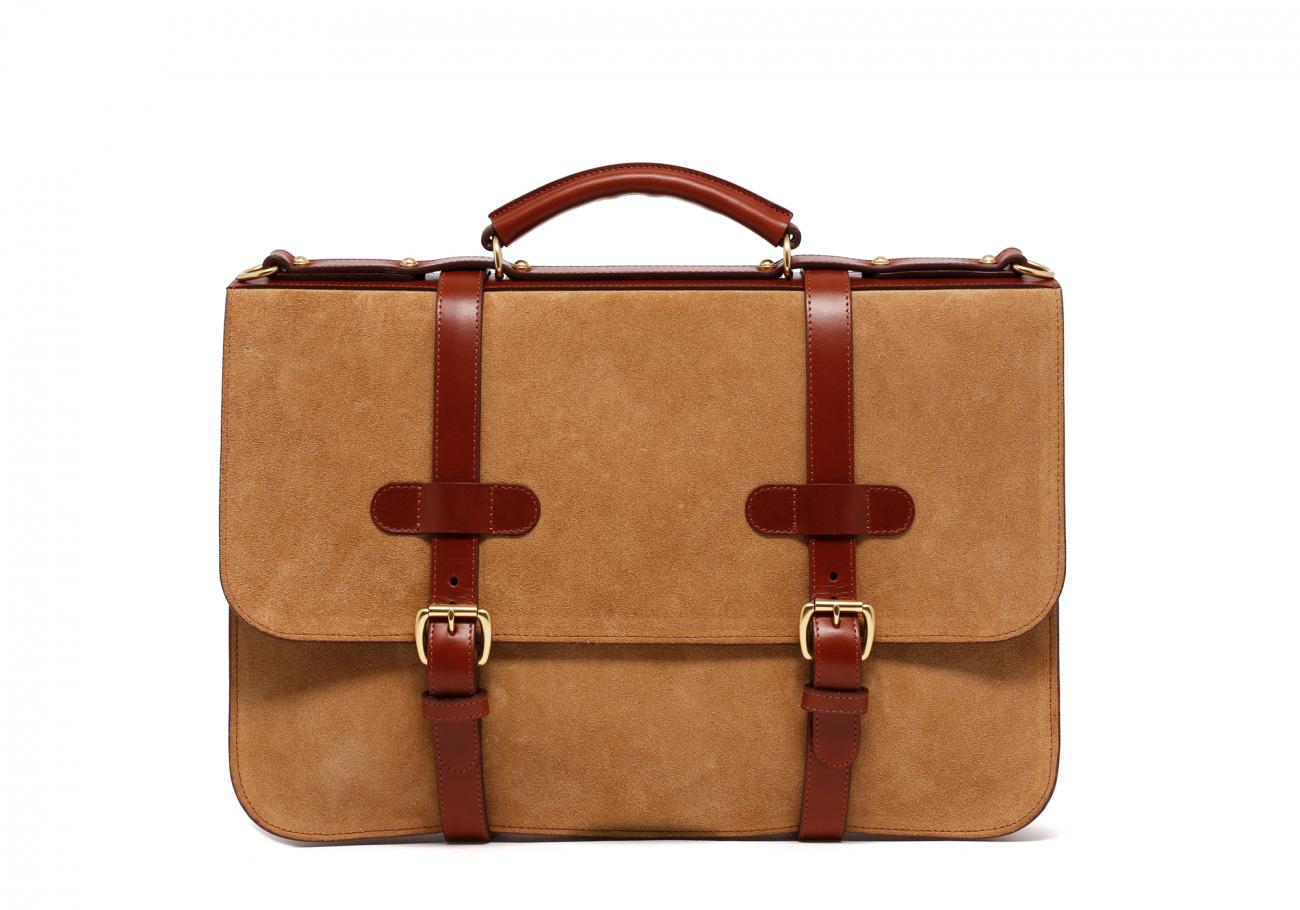 Monogrammed Messenger Bag Sand