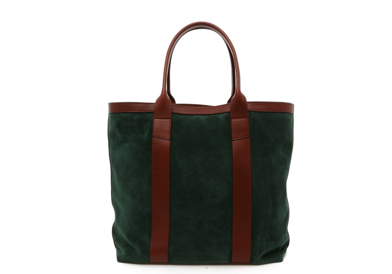 Evergreen Suede Tall Tote B