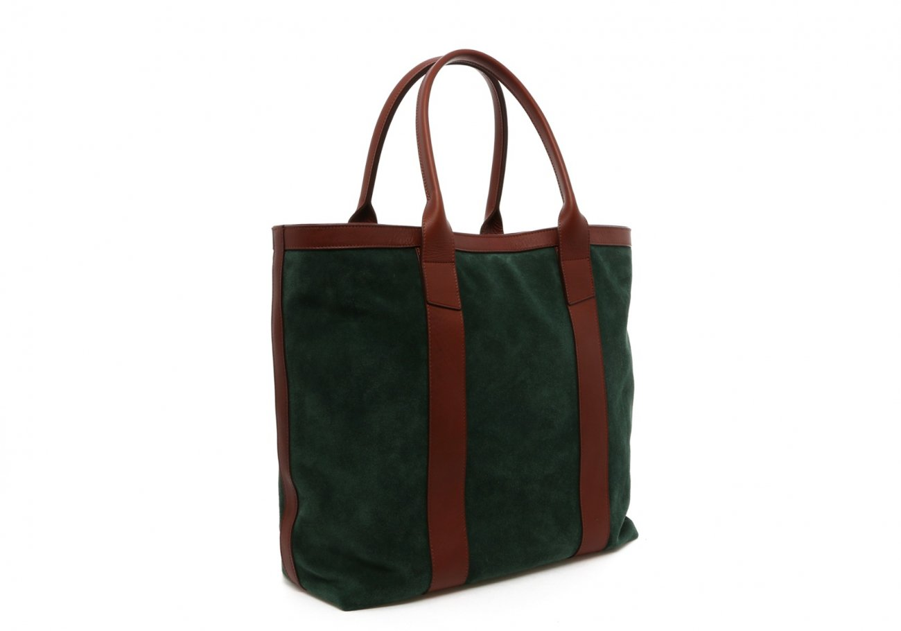 Evergreen Suede Tall Tote C