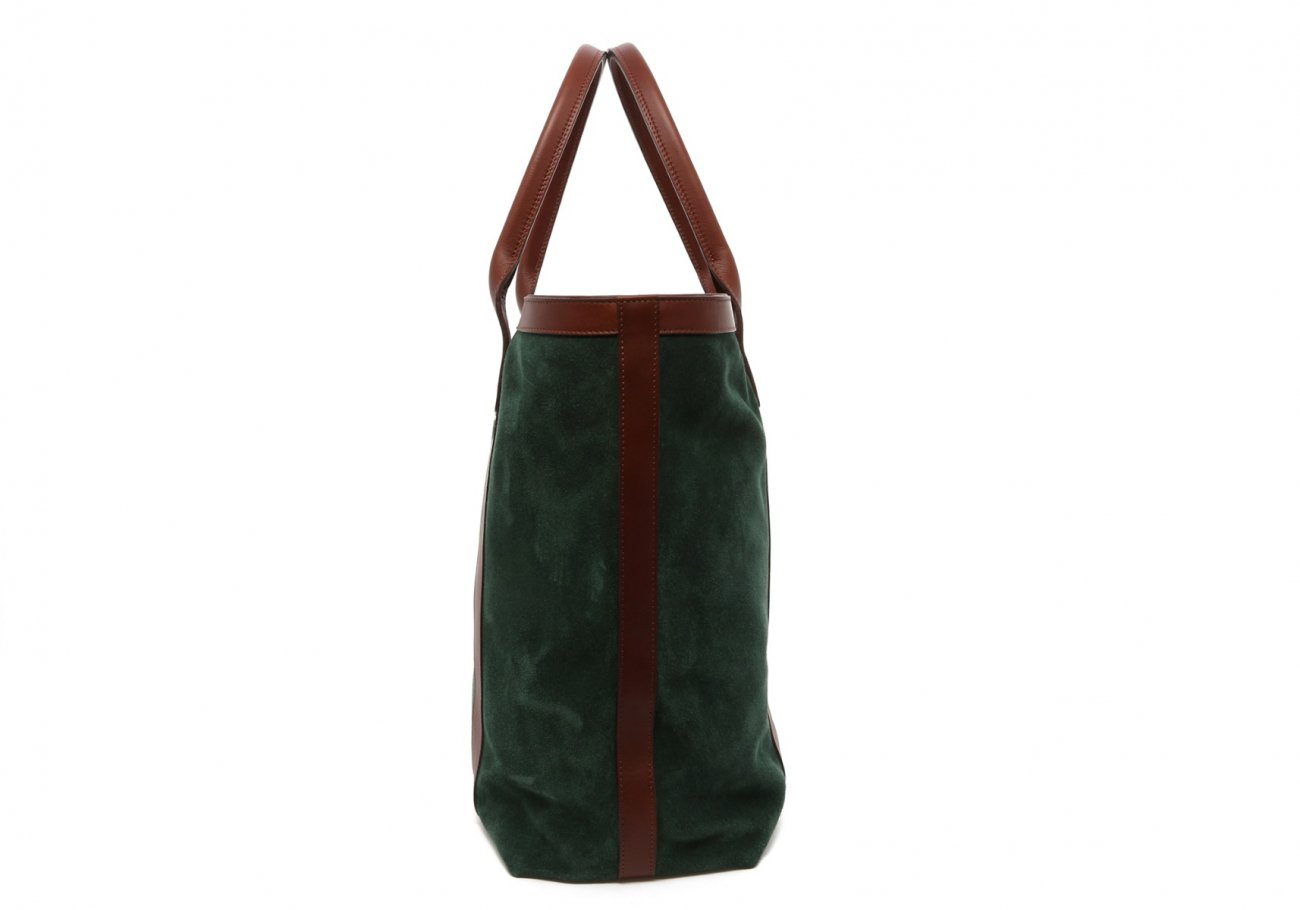 Evergreen Suede Tall Tote D
