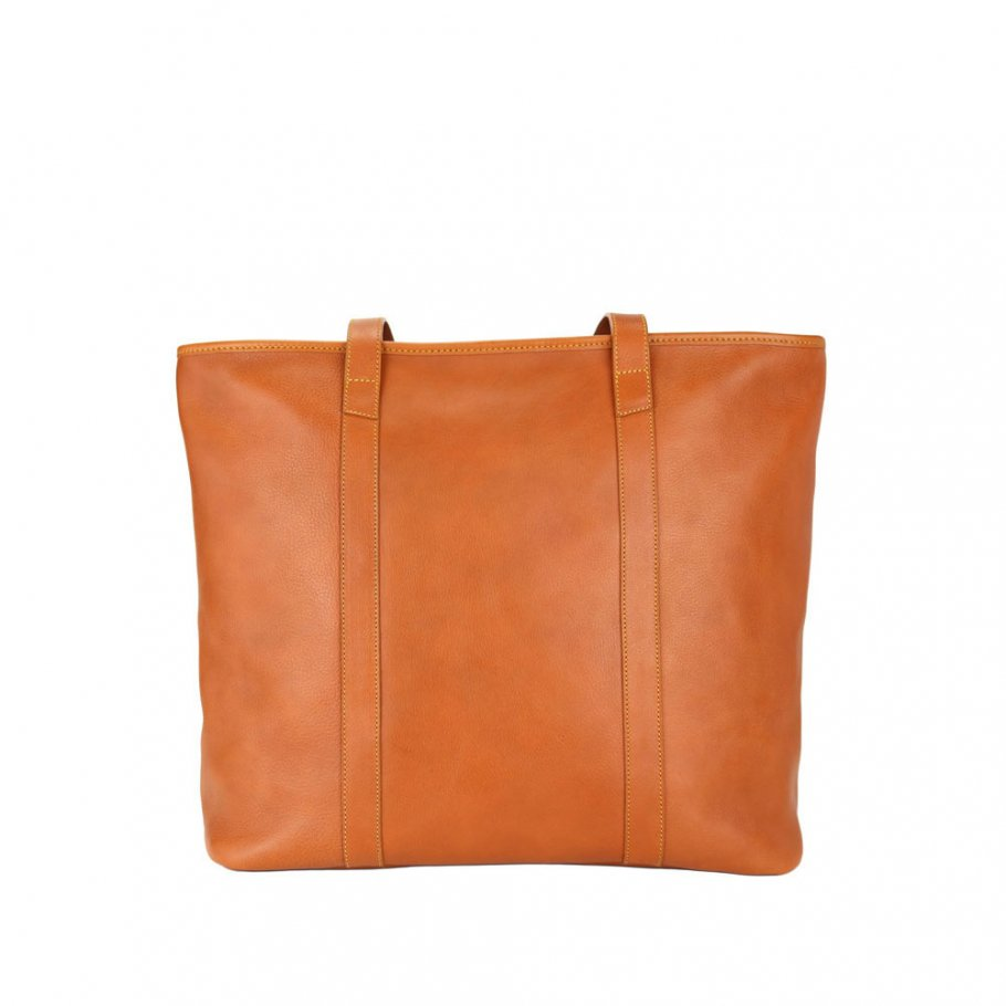 Final  Tan Large Laurelie Zip Top Tote  Frank Clegg Made In Usa 1 Raw 1