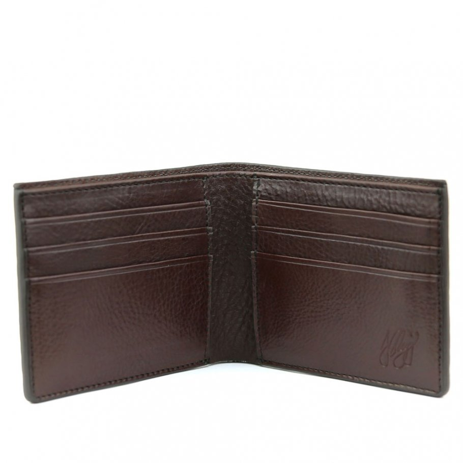 Final Chocolate Tumbled Leather Classic Wallet Frank Clegg Made In Usa 1 Raw 1