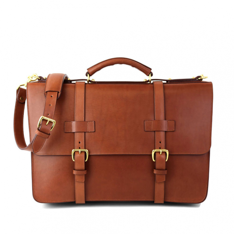 Final Cognac Leather American Briefcase Frank Clegg Made In Usa 1 Raw 1