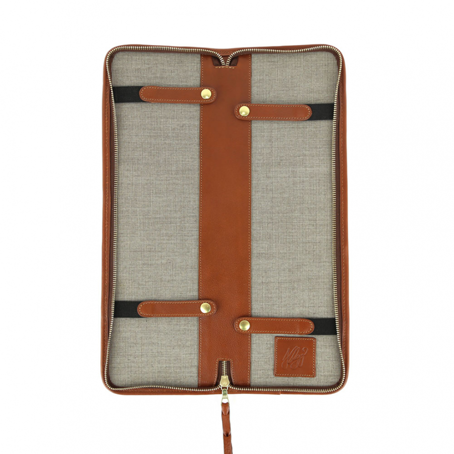 Final Cognac Leather Tie Case Frank Clegg Made In Usa 2 Raw 2
