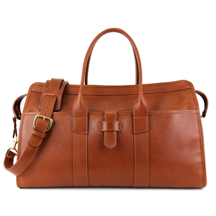 Final Cognac Troy Leather Duffle Bag Frank Clegg Made In Usa 1 Raw 1