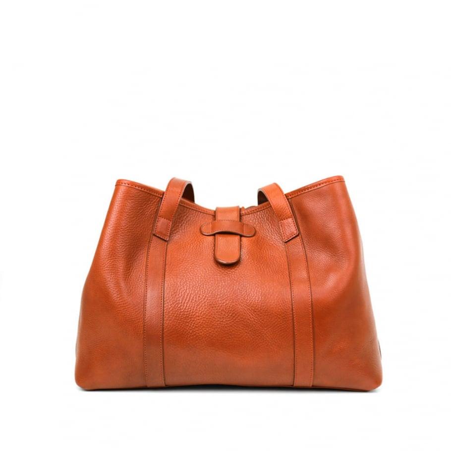 Final Medium Tan Handbag Tote Frank Clegg Made In Usa 1 Raw 2