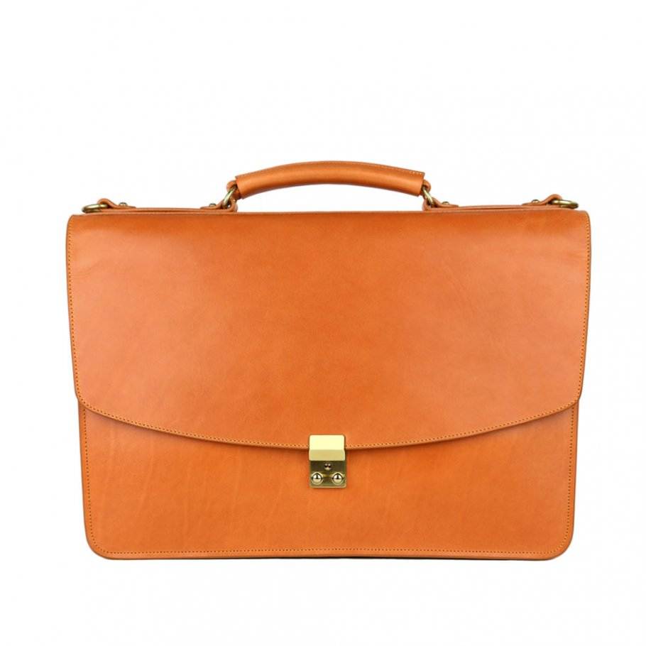 Final Tan Belting Leather Wall Street Briefcase Frank Clegg Made In Usa 1 Raw 2