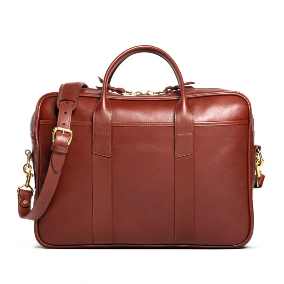 Frank Clegg Commuter Briefcase Leather Chestnut