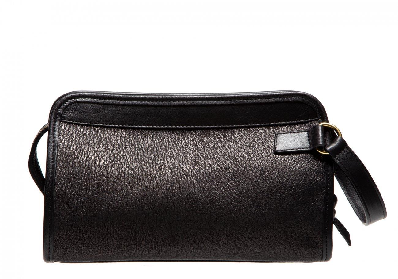 Goatskin Small Travel Kit Chevre Black1