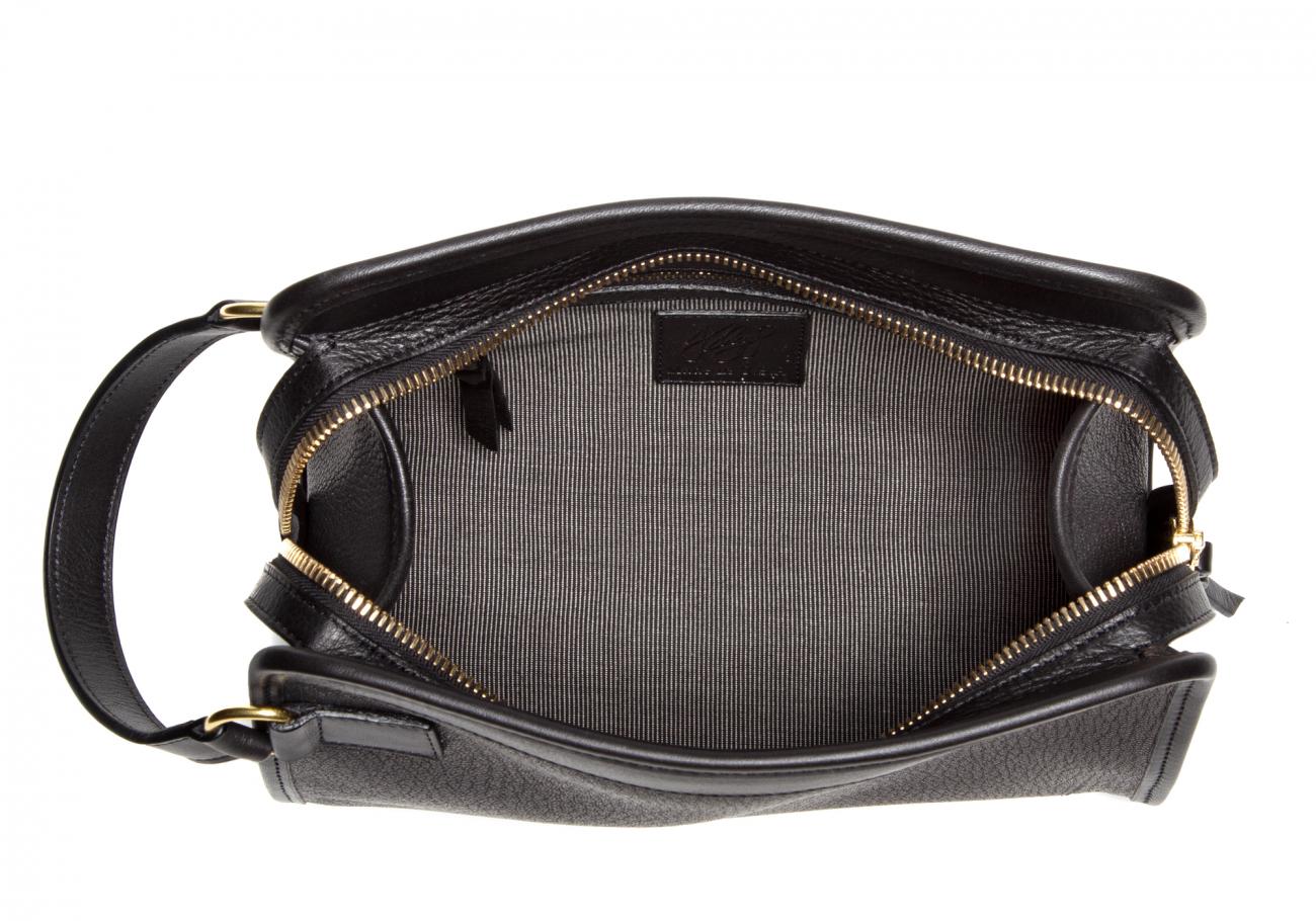 Goatskin Small Travel Kit Chevre Black5