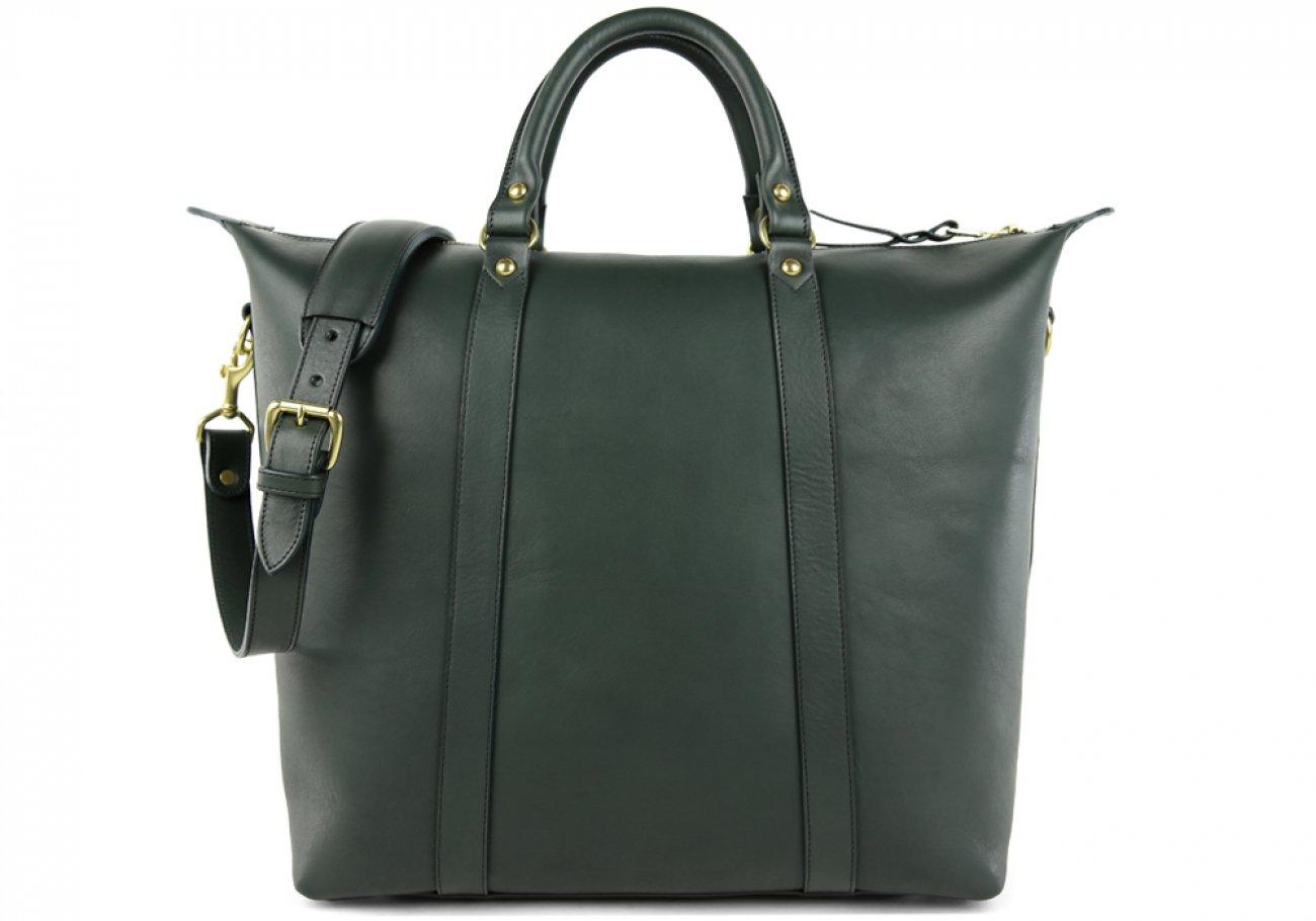 Green Zipper Tote Bag 1