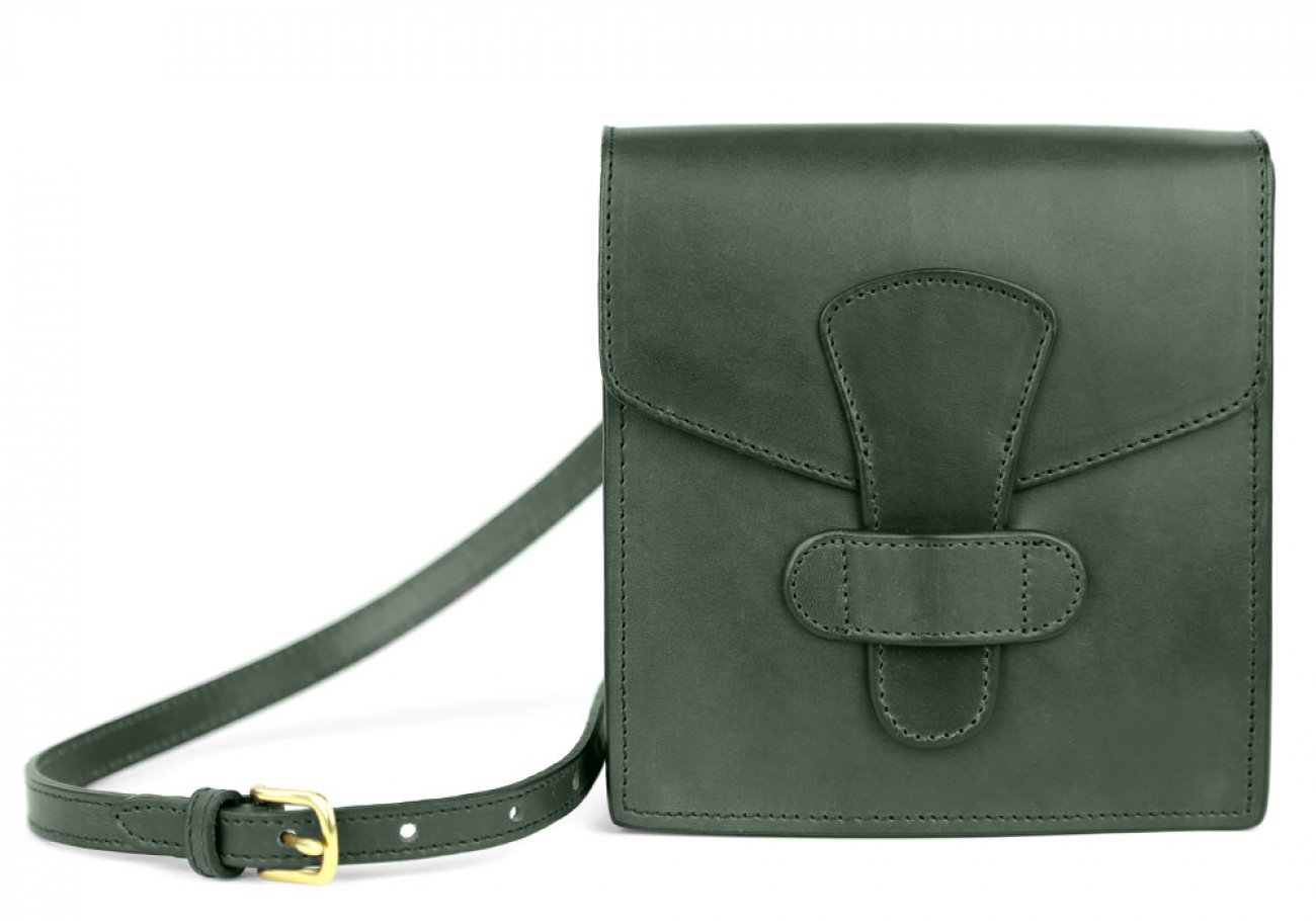 Green Adelie Closure Satchel Frank Clegg Made In Usa 1