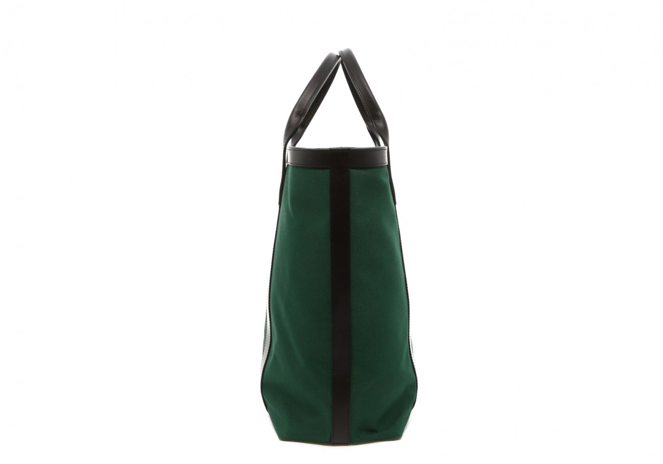Green Canvas Tall Tote D