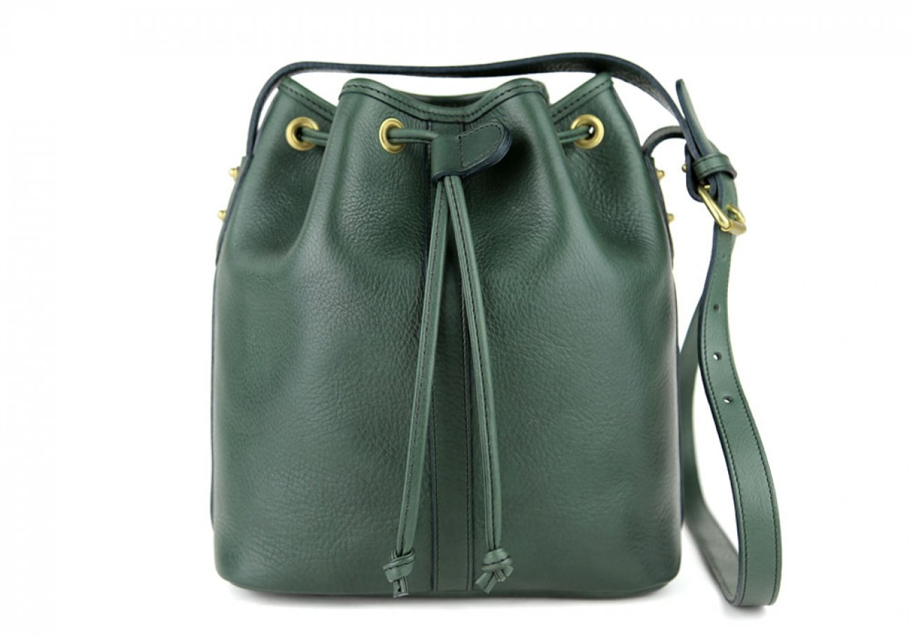 Green Cara Draw String Bag Frank Clegg Made In Usa 1