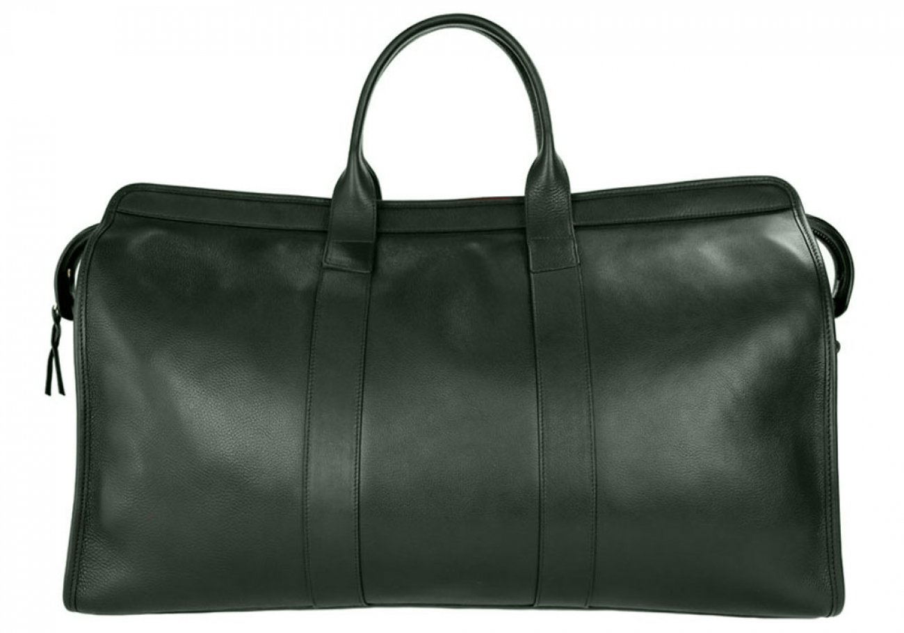 Green Compass Leather Duffle Bag Frank Clegg Made In Usa 1 2