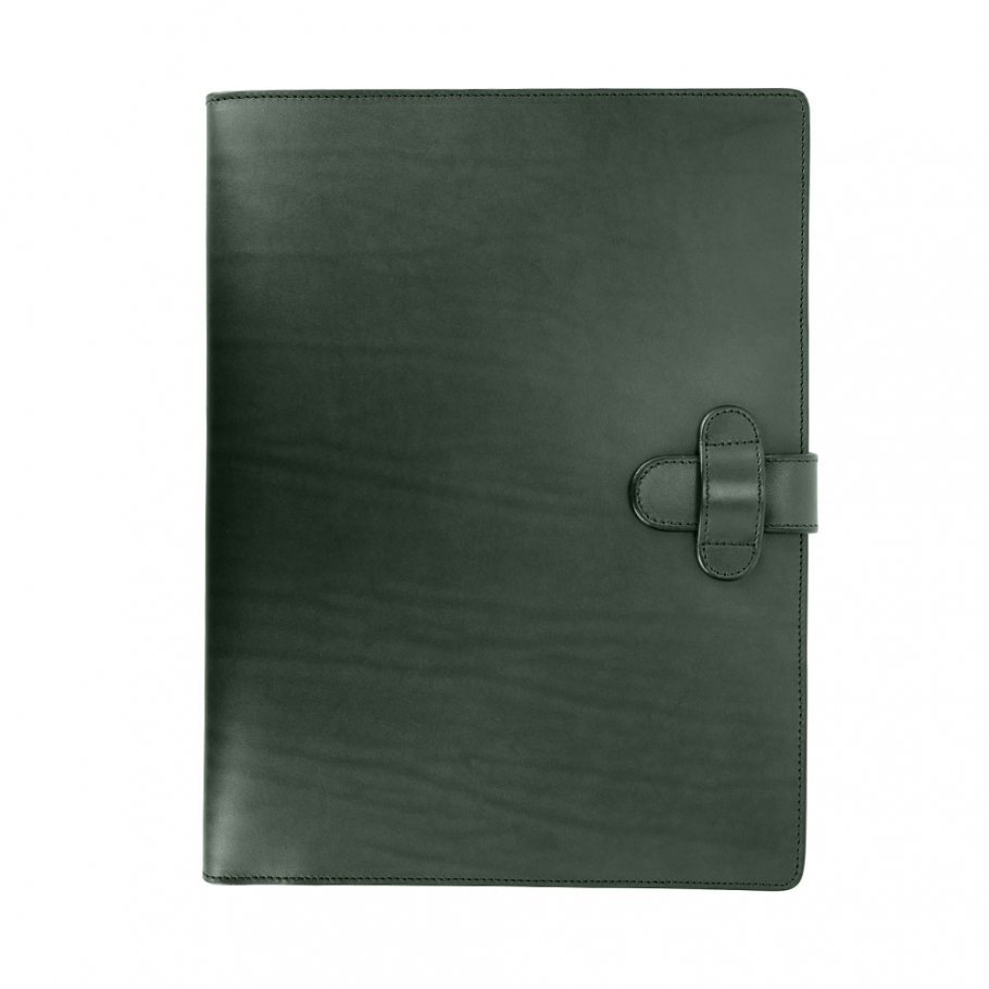 Green Harness Belting Leather Note Pad Frank Clegg Made In Usa 1