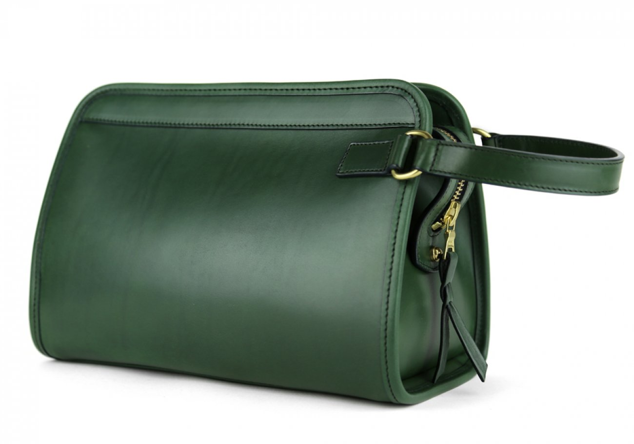Green Large Belting Leather Travel Kit Frank Clegg Made In Usa 2