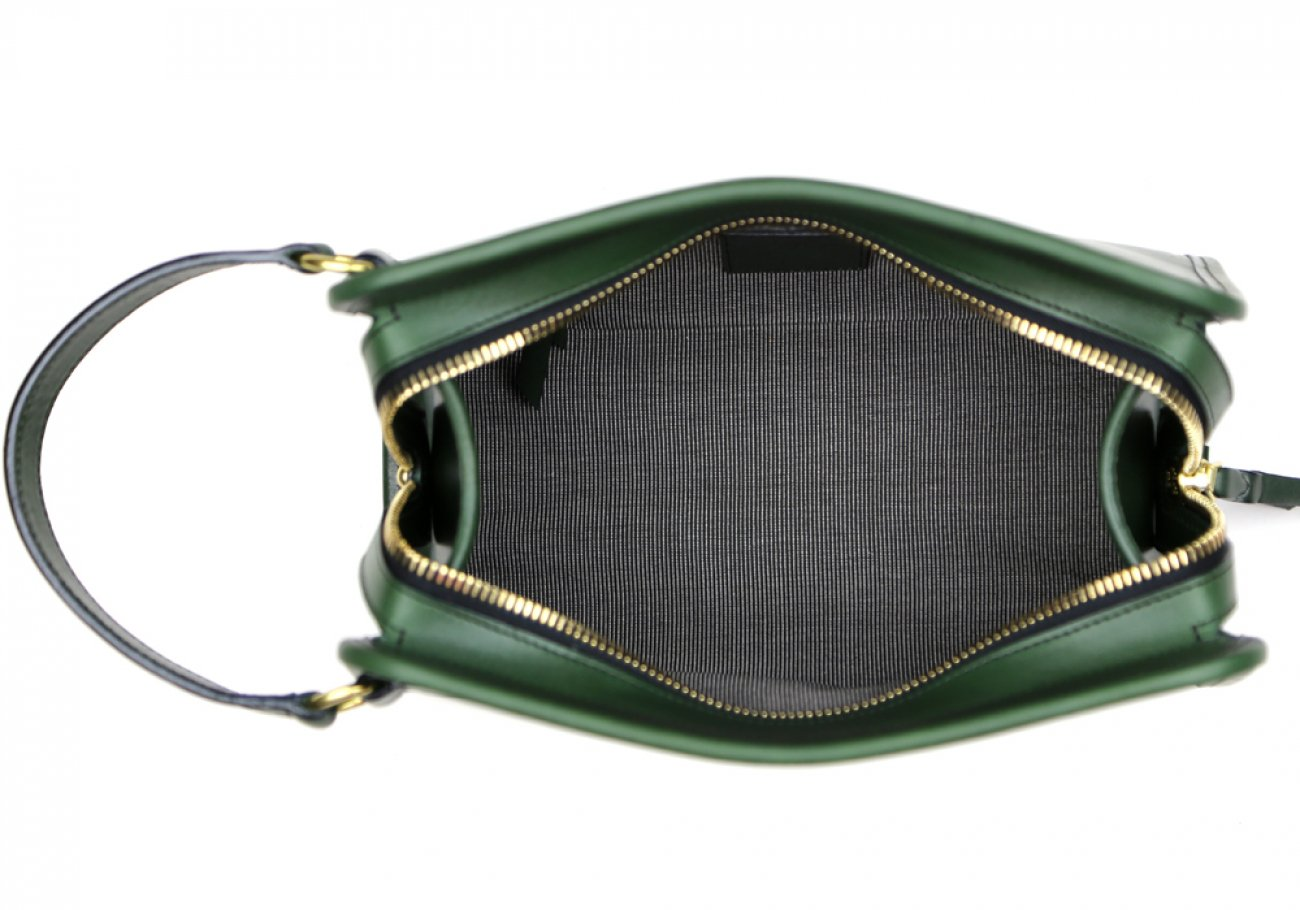 Green Large Tumbled Leather Travel Kit Frank Clegg Made In Usa 5 1
