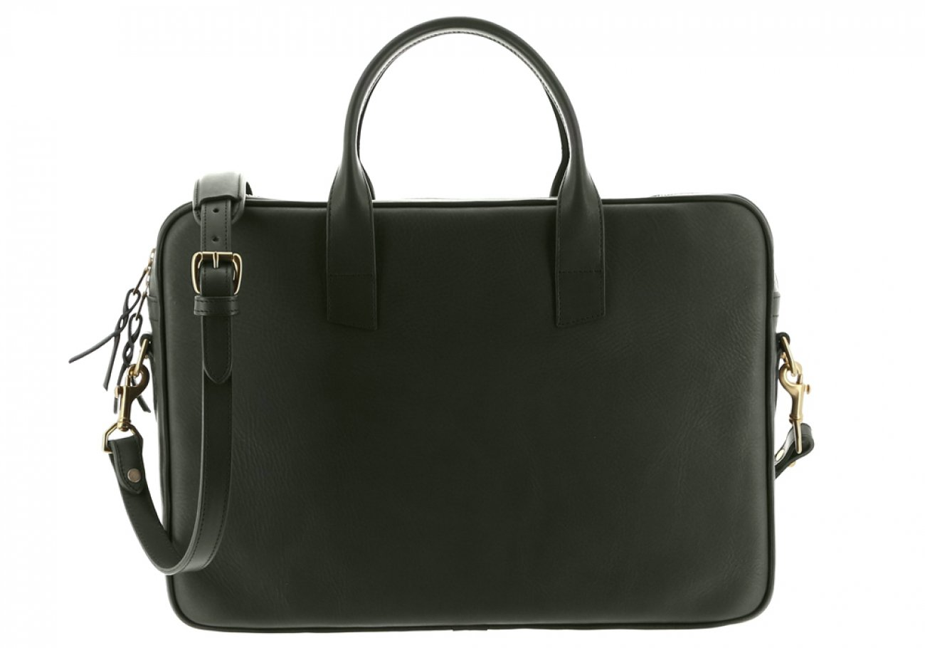 Green Leather Computer Briefcase Frank Clegg 1