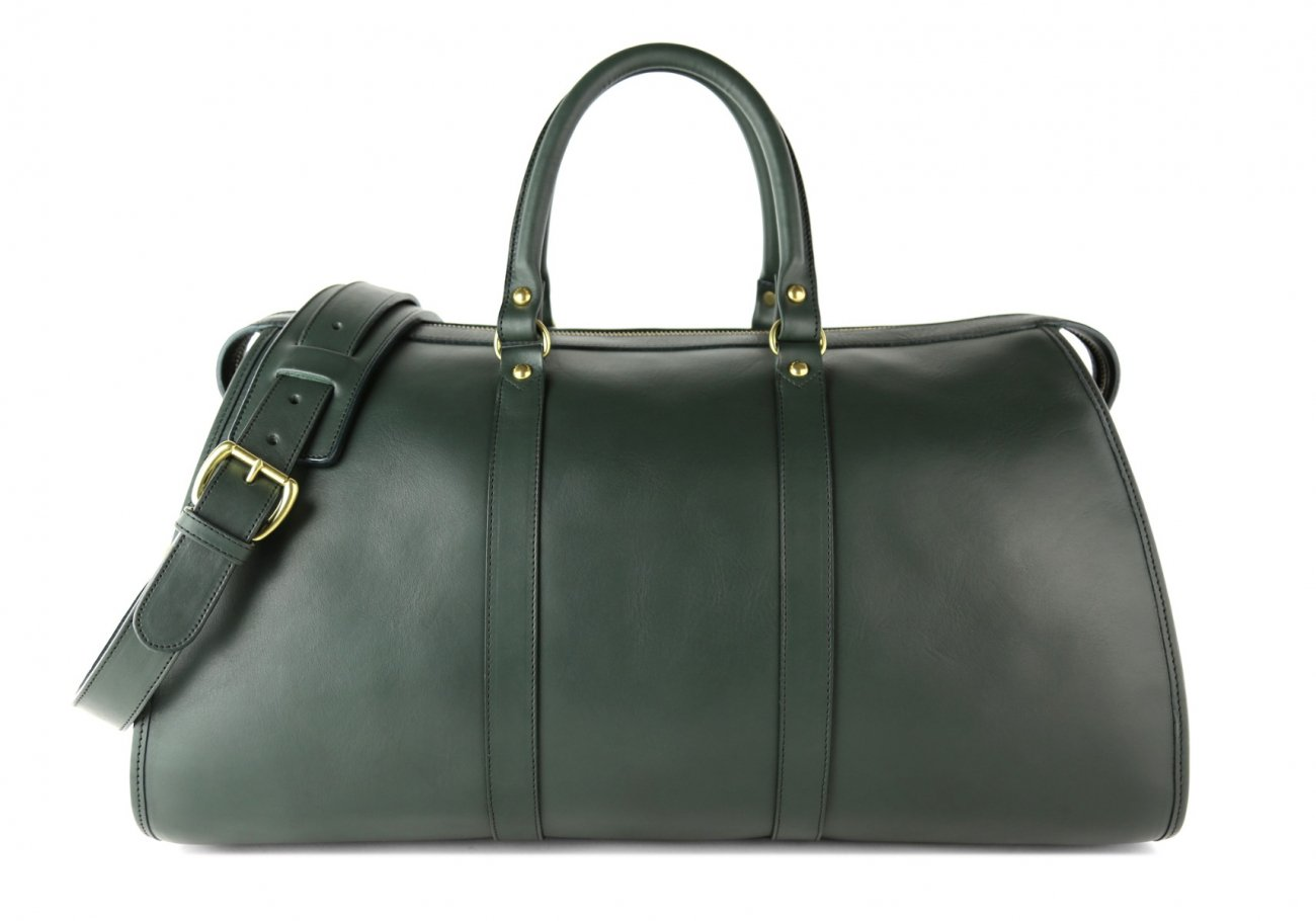 Green Leather Duffle Bag Hampton Frank Clegg 1