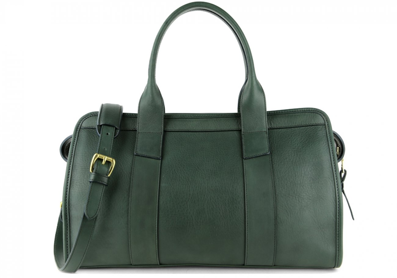 Green Leather Signature Satchel Frank Clegg Made In Usa 1