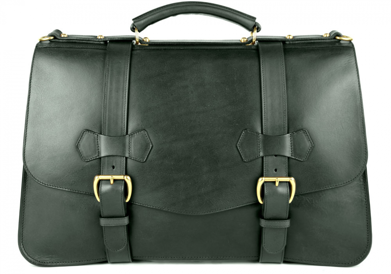 Green Leather Small Lawyers Briefcase Frank Clegg Made In Usa 1
