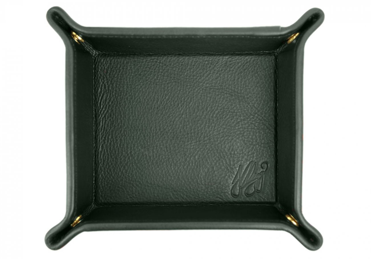 Green Leather Valet Key Tray Frank Clegg Made In Usa 1