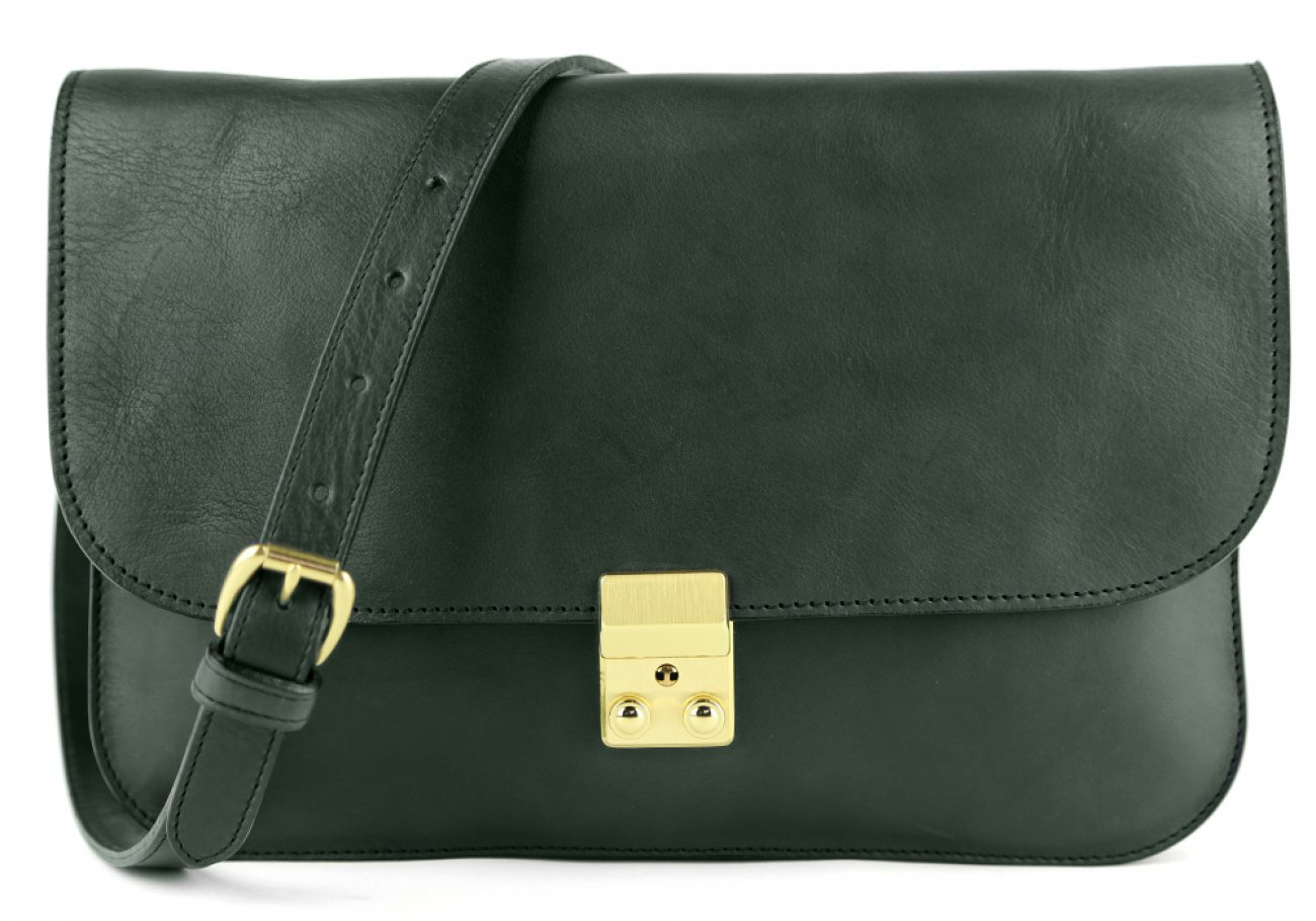 Green Lock Clutch Frank Clegg Made In Usa 1