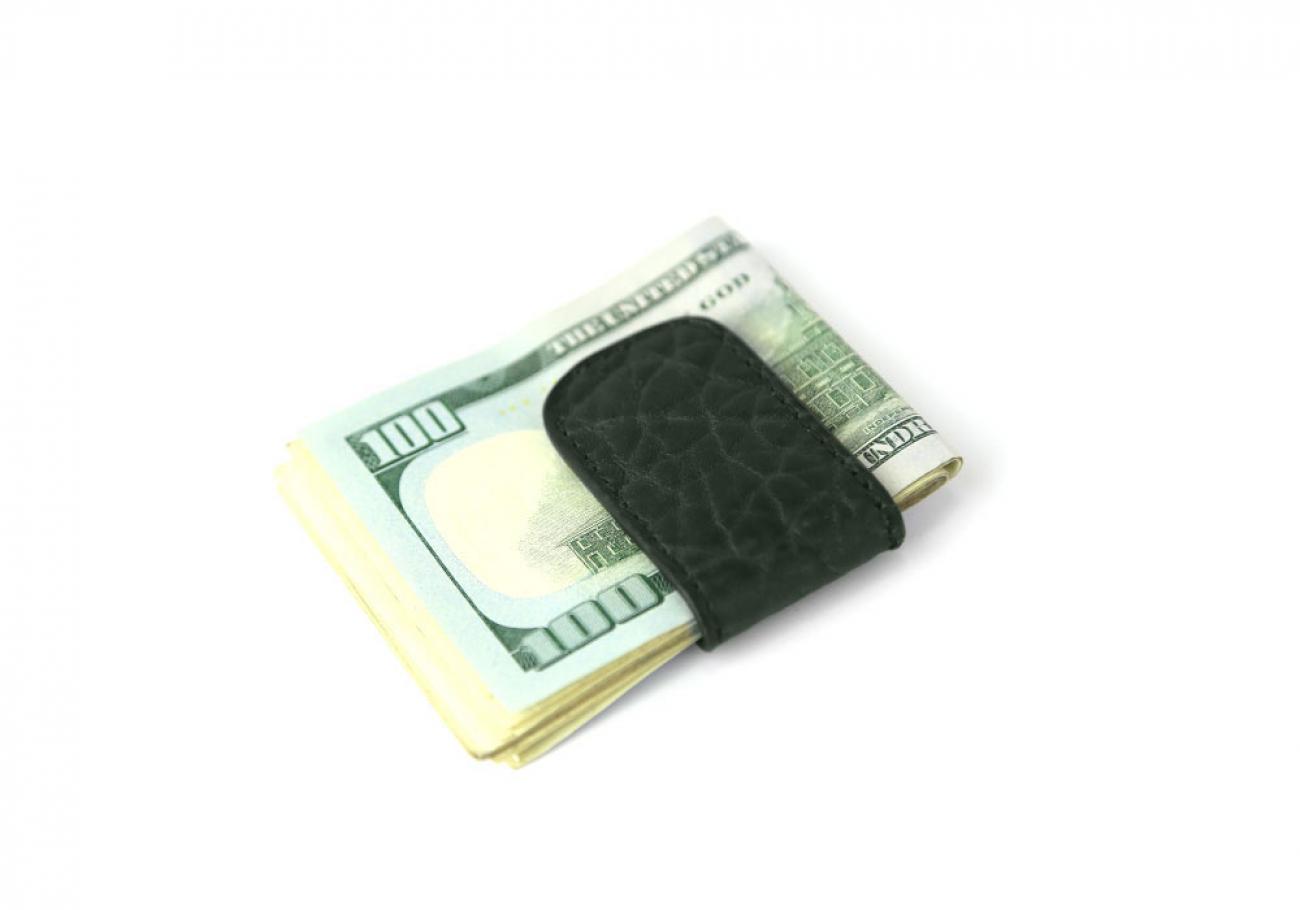 Green Shrunken Leather Money Clip Frank Clegg Made In Usa 1