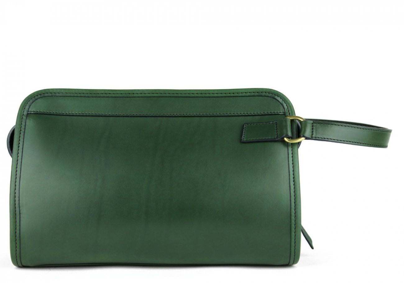 Green Small Belting Leather Travel Kit Frank Clegg Made In Usa 1