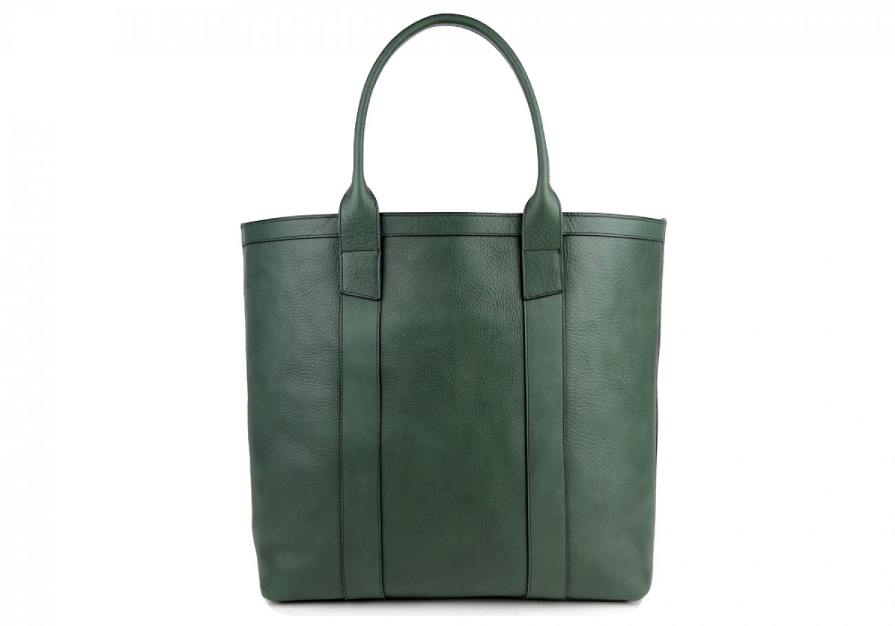 Green Tall Medium Tote Made In Usa Frank Clegg 1
