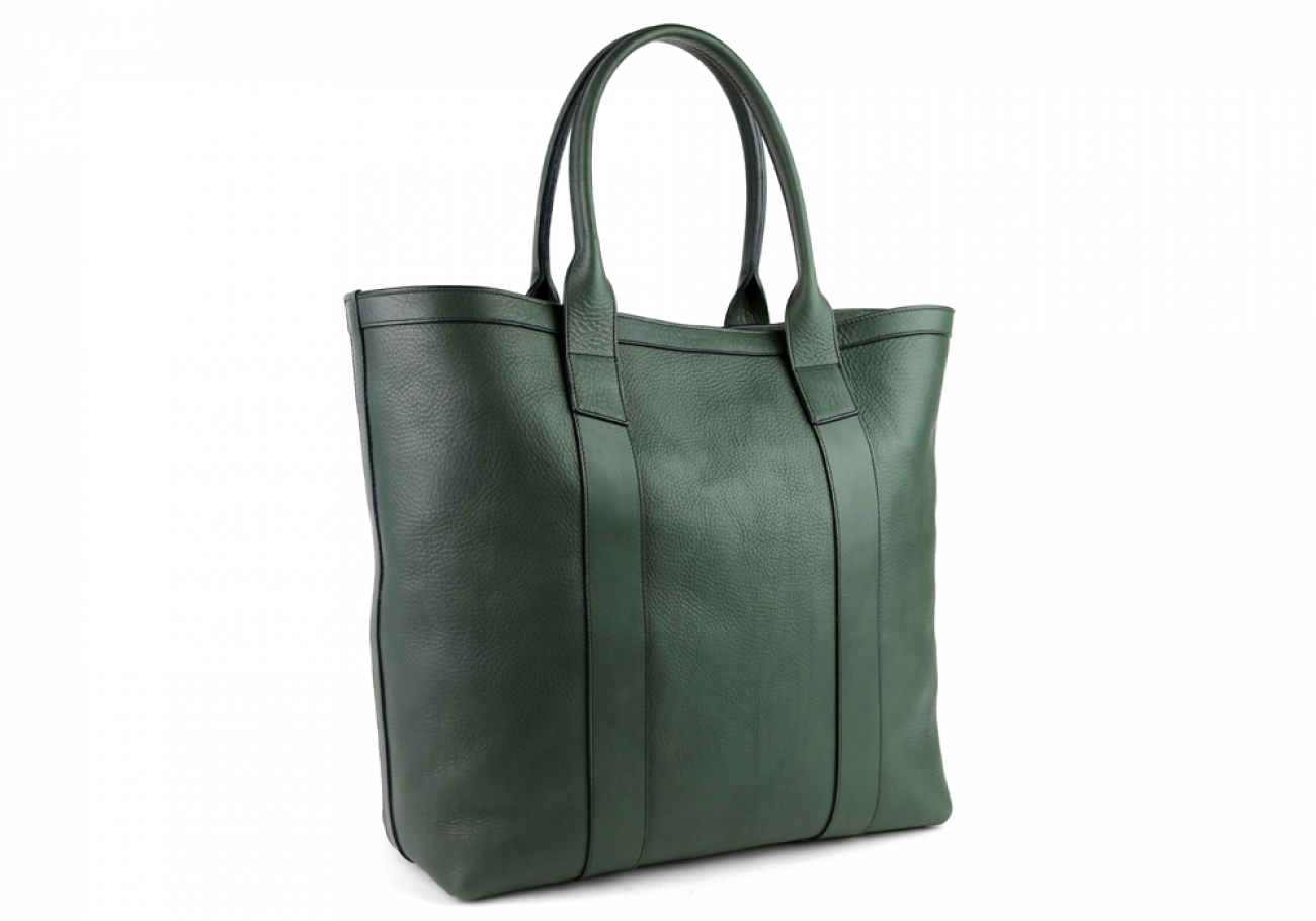 Green Tall Medium Tote Made In Usa Frank Clegg 2 1