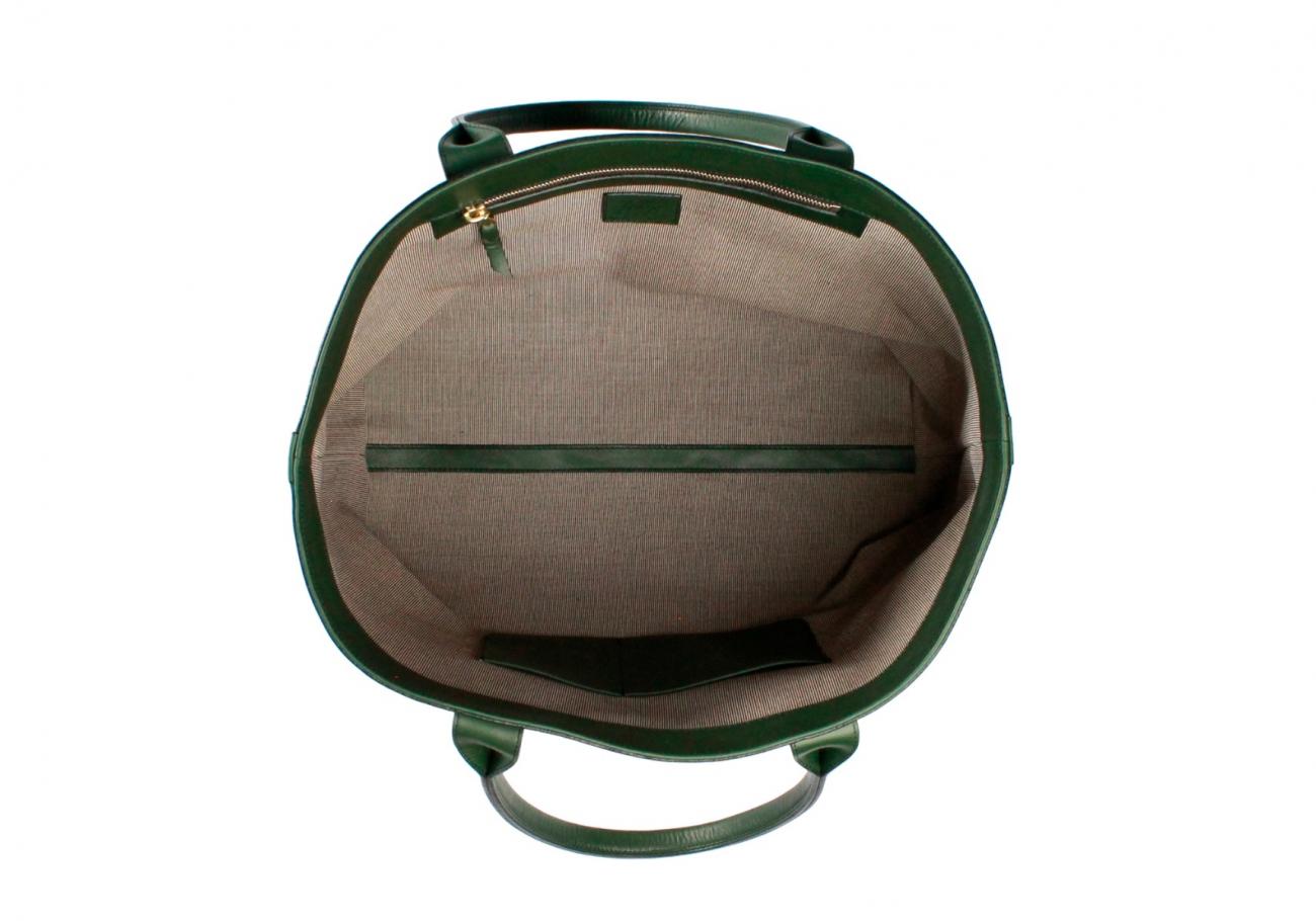 Greenish Khaki Twill Lg Tote E