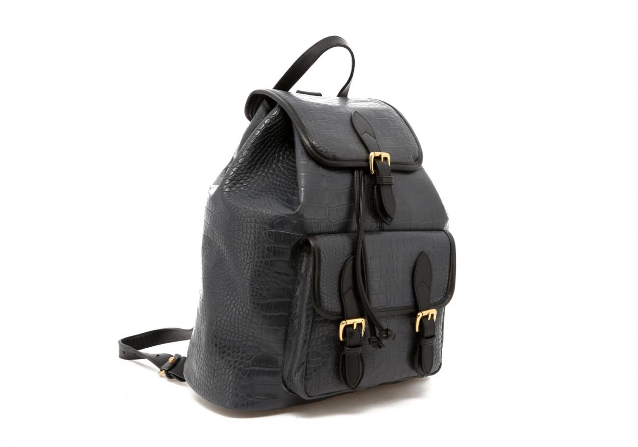 Grey Gator Print Classic Backpack