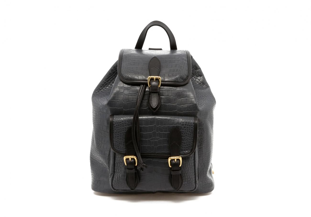 Grey Gator Print Classic Backpack B