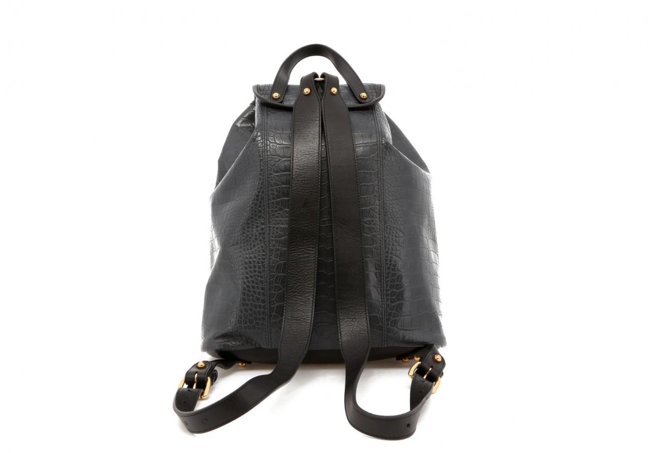 Grey Gator Print Classic Backpack E