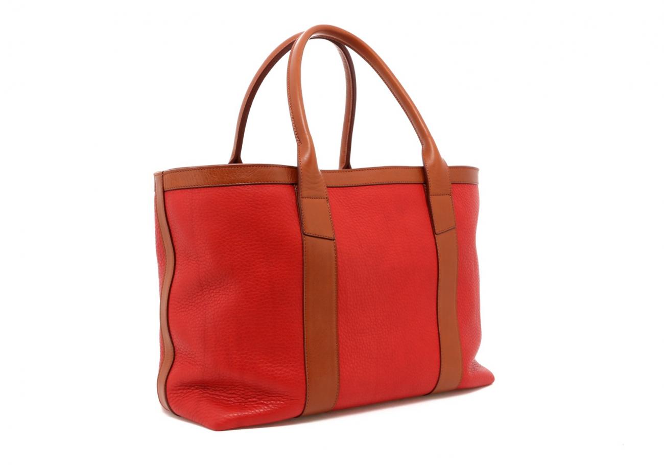 Hibiscus Soft Leather Lg Tote C