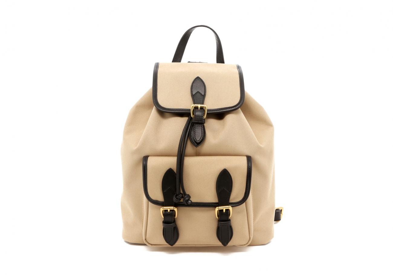 Khaki Twill Classic Backpack B