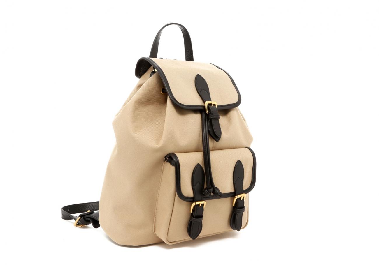 Khaki Twill Classic Backpack C
