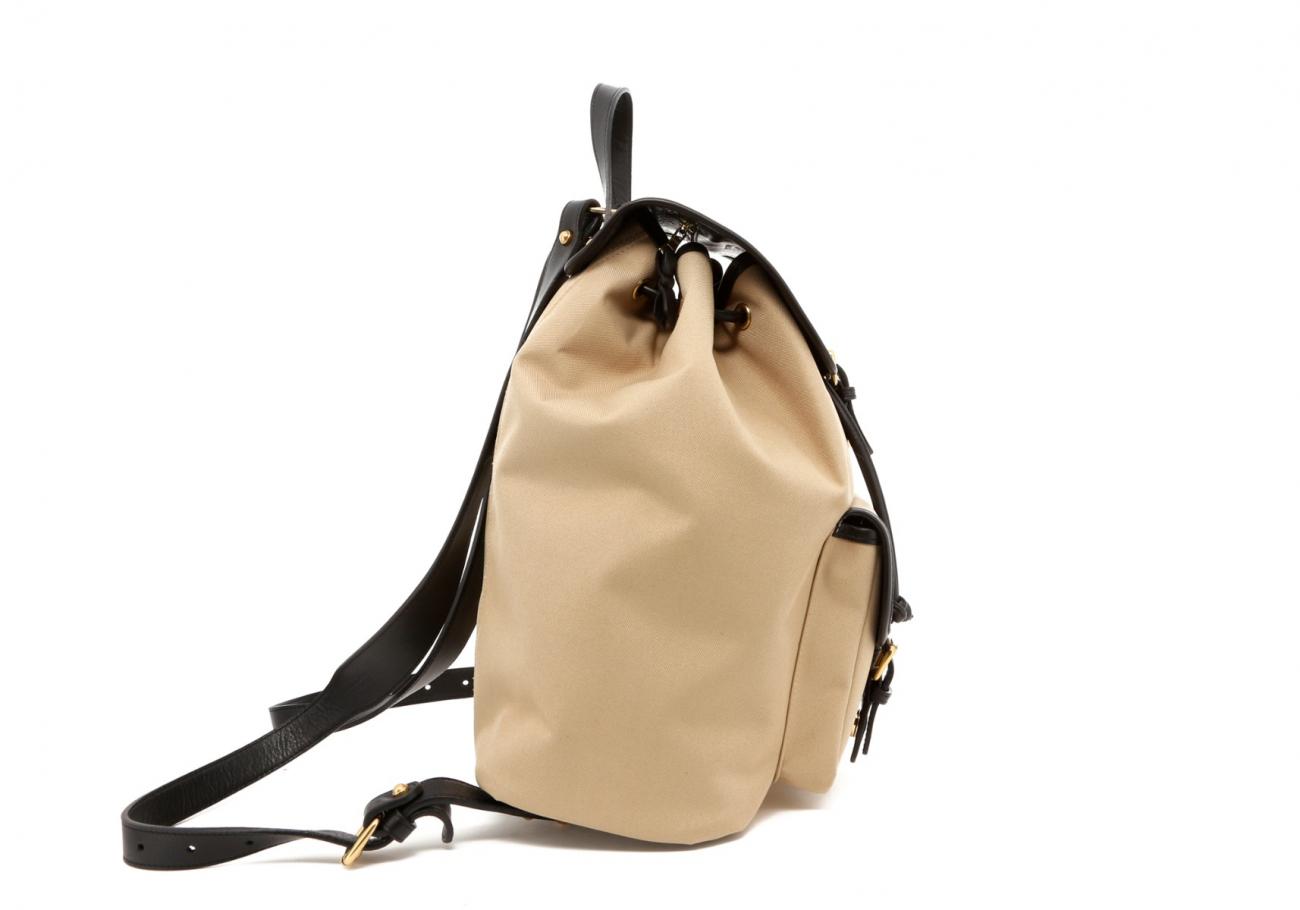 Khaki Twill Classic Backpack D