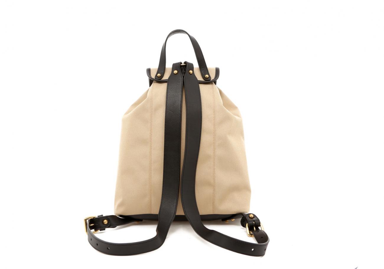 Khaki Twill Classic Backpack E